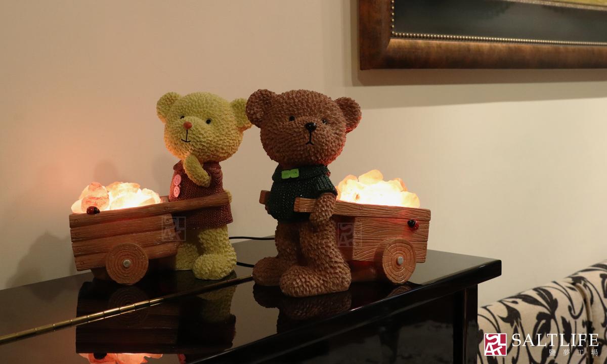 鹽燈,熊,鹽夢工場,可愛風,桌燈,童趣